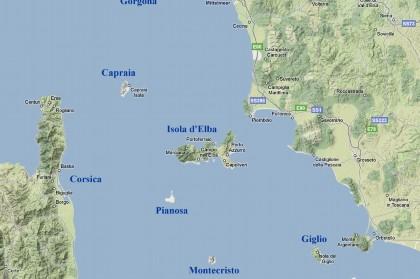 Cartes et plans de l 39 le d 39 elbe - Distance en milles nautiques entre 2 ports ...